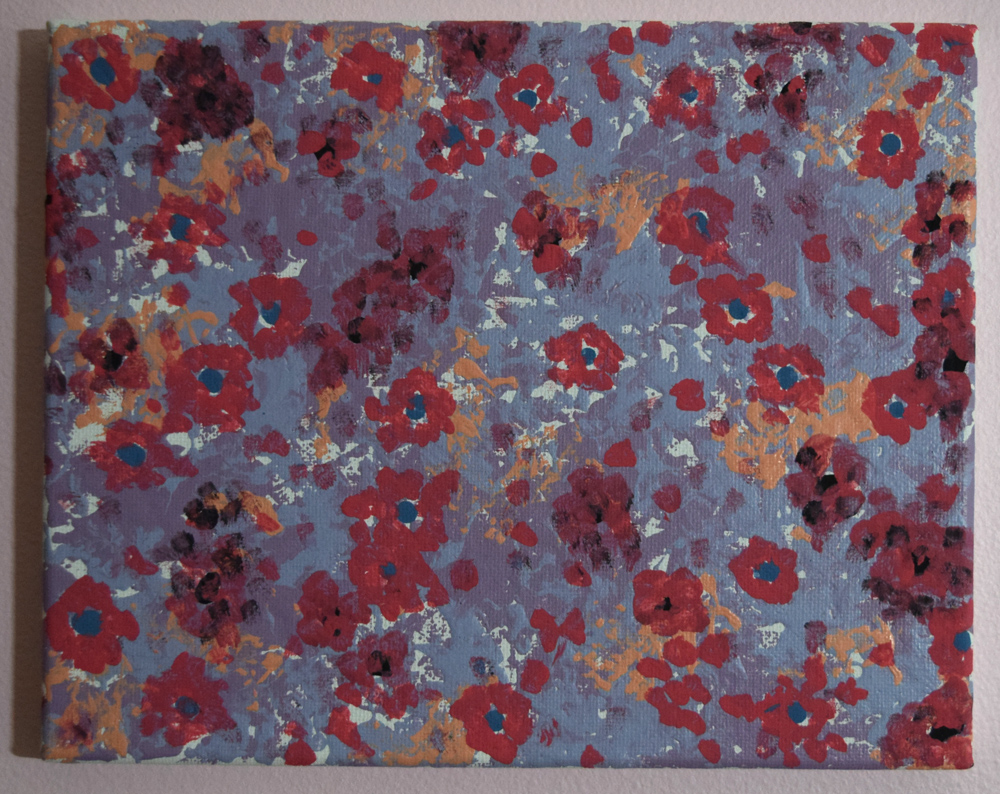 House Flowers: Original painting on canvas.